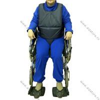 Жилет для инвалидной коляски с паховой вставкой
